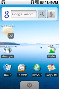Android Home Screen with Weather Widget